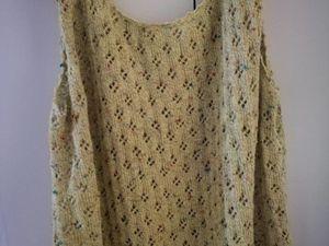 """Coton """"bigarelle de BDF"""", agréable à tricoter et très léger une fois porté."""