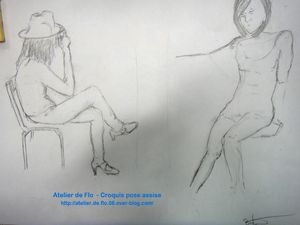 Croquis Pose assise style cabaret