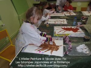Les enfants de l'école découvrent les Arts du Japon