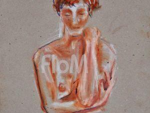 Croquis de FloM lors de l'atelier sur modèle vivant des Artistes d'Auvergne