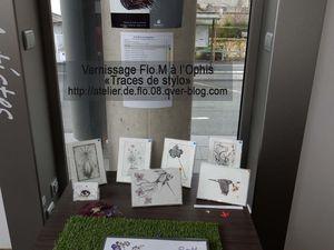 """Exposition """"Traces de stylo"""" de Flo.M - OPHIS 32 rue de blanzat 63000 Clermont Ferrand     Cliquez sur l'image pour voir les dessins et gravures"""