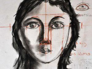 Dessins techniques des bases du portrait, cliquez sur l'image pour la voir en entier