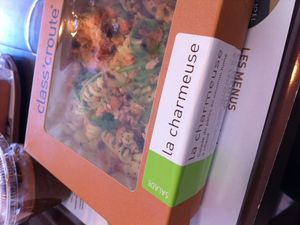 de jolis noms de salades à Class Croute, et du jus d'Aloe Vera &#x3B; enfin ça arrive en France !