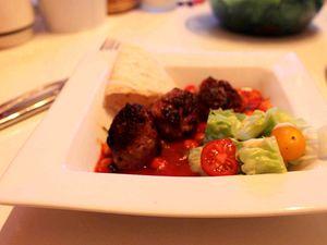 Boulette de saucisse et ragoût