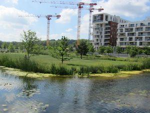 La maîtrise des eaux usées dans le projet de l'Ile Seguin Rives de Seine (Boulogne Billancourt) sur les friches industrielles de Renault Photo F Arnal 2011