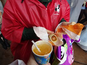 Attraction Tortilla Dog et Sunday pumpkin et churros au maple sirup...et sirop violet à ?? :)
