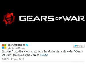Gears of War restera chez Microsoft