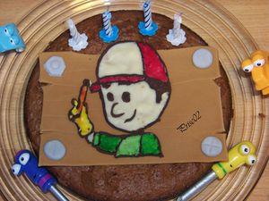 Gâteau Manny et ses outils