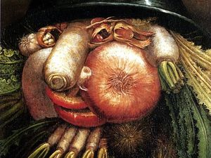 "G.Arcimboldo, Portrait with Vegetables (The Greengrocer),  Museo Civico ""Ala Ponzone"" di Cremona"