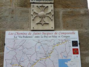 Départ de la Via Podiensis, place du Plot, Le Puy-en-Velay