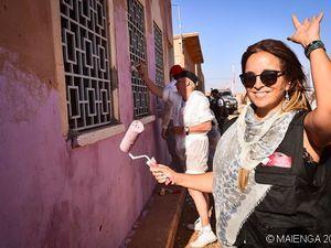 Hélène Ségara dans le désert pour le Cap Fémina Aventure 2014