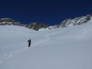 sur le bas puis le haut Glacier d'Arolla sous le mont collon