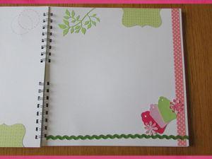 Livre baptême rose et vert