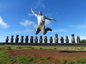 L'île de Pâques ou les statues mystérieuses !!!