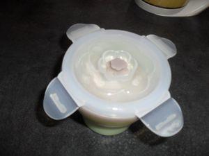 Les repas de Ptit doudou bien conservés grâce à Babymoov et son contenant en silicone