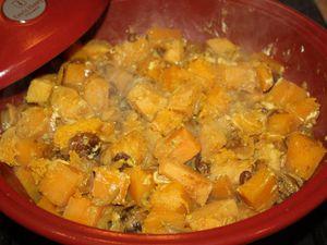 Le tajine végétarien d'automne (coing, butternut &amp&#x3B; châtaigne)