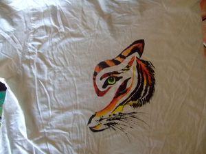 Mais oui, c'était de la peinture sur tissu&#x3B; intéressant aussi, on a droit qu'à un seul essai sinon..