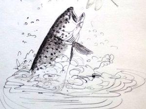 puisque l'on est dans les paysages d'eau, pourquoi pas un poisson!