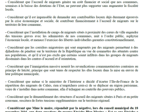 "motion ""ma commune sans migrants"""