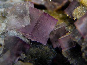 Fluorite (Fluorine) on Quartz from Lavrion, Attica, Grece (size: Cabinet)