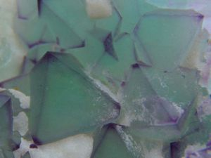 Fluorite (Fluorine) octahedron (Octoédre) from De'an Mine, Jiangxi, China (size: Museum)