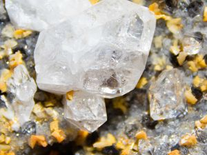 Diamond Quartz with Ankerite from Corenc, Isere, France (size: Cabinet)