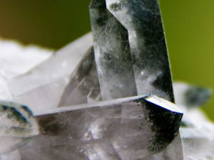 Quartz with Chlorite from Alpes, France (size: Cabinet)