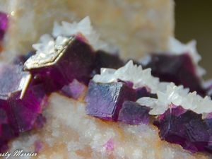 Fluorite with Calcite and Pyrite from the Jingbian Mine, Hengbu, Zongyang County, Anhui Province, China (size: Cabinet)