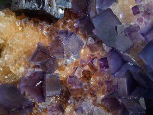 Fluorite (Fluorine) with Galene on Quartz from Bingham, New Mexico (size: Museum)