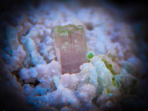 Purple Apatite with Pink Tourmaline from Mawi Pegmatite, Nuristan, Afghanistan (size: Cabinet)