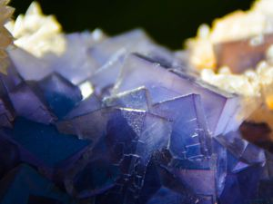Fluorite with Calcite from Ghowaya mine, Loralai District, Balochistan, Pakistan (size: Museum)