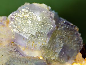 Fluorite (Fluorine) with Calcite and Pyrite on Dolomite from Shang Bao Mine, Hunan, China (size: Small Cabinet)