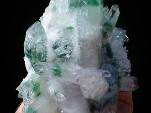 Green Phantom Quartz from China