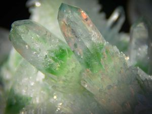 Green Phantom Quartz from China (size: Cabinet)