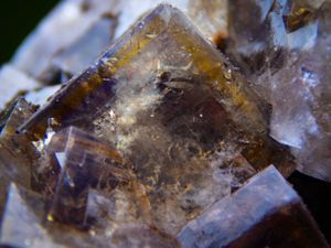 Fluorite with Siderite from Greenlow Mine, Weardale, Durham, England UK