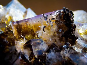 Fluorite from Greenlaw, UK (GB) (size: Small cabinet)