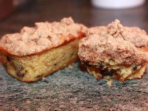 MINI-CAKES BANANES/CHOCOLAT ET CRUMBLE A LA CANELLE