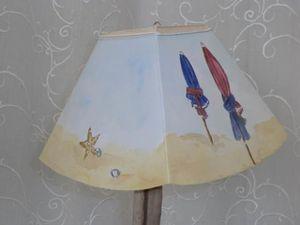 Abat-jour Lanterne &quot&#x3B;Les Parasols de Deauville&quot&#x3B;