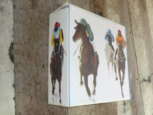 Applique carrée &quot&#x3B; Cavaliers au Galop&quot&#x3B;