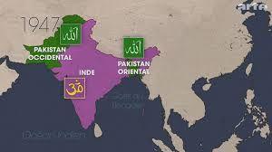 Petit rappel du partage des territoires à l'Indépendance de l'Inde