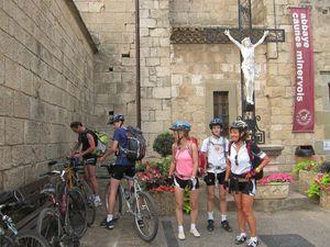 1 et 2. Caunes-Minervois, 3. dernier col avant Saint Pons.