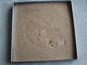 PARFAIT A LA GRAINE DE CACAO CRUE ET TORREFIEE. GLACE AU CHOCOLAT DE CLAIRE HEITZLER