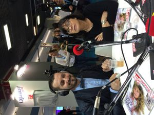 Enregistrement de la webradio Match+, Paris Match et RFM, sur le salon expopresse au CNIT