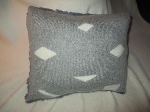 coussin cocooning ... recto / verso