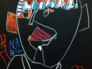 """Travail en blanc, bleu et rouge autour de l'exposition """"Coucou Bazar"""" de Jean Dubuffet"""