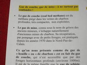 """le tract préparé par le collectif """"Stop au gaz de couche"""" de Moselle"""