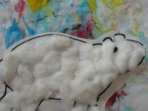 nos tableaux à caresser, format A3, réalisé par A., L.,K. 20 mois à 30mois
