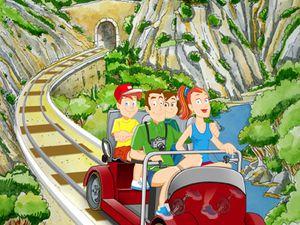 Le train à vapeur                                                Le vélo rail