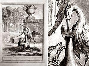Ci-dessus la fable Le renard et la cigogne gravée par Oudry  et par Doré  puis la même fable illustrée par Rabier