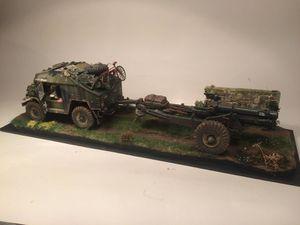 Tracteur Quad Gun avec obusier 6 Inch